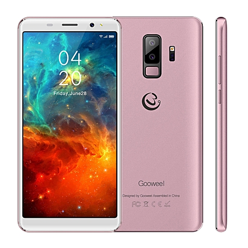 Gooweel S9 Smartphone 5.72-Inch 18:9 Full Screen Quad Core Android 5.1,5MP+2MP Camera 2500mAh 3G Mobile Phone GPS Bluetooth - Rose Gold