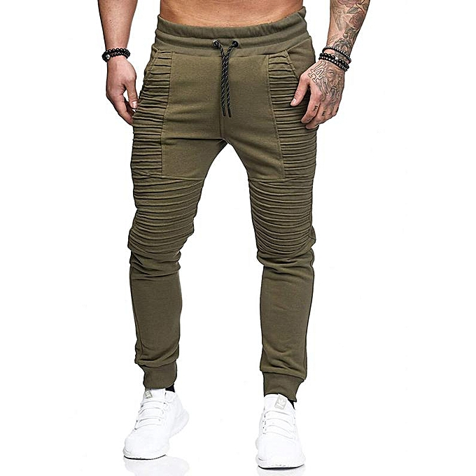 Generic Men s sports trousers male hip hop stripe design fitness ... 03081bbb25521