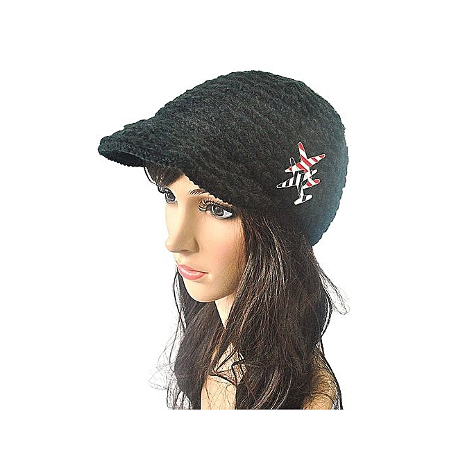 Eissely Women Warm Winter Of Candy Color Mesh Cap Beanie Crochet