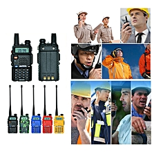BAOFENG UV-5R Interphone Walkie Talkie Two Way Radio FM Transceiver Dual-band DTMF Encoded VOX Alarm LED Flashlight Key Lock