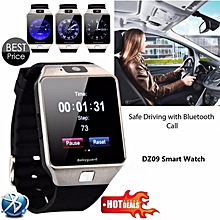 Newest Smart Watch DZ09 With Camera Anti-lost Bluetooth WristWatch SIM Card MP3 Player Smartwatch for Apple ios and android phone Support Multi languages(Black) BDZ