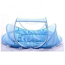 4pcs Blue Portable Comfortable Babies Sealed Mosquito Net Mattress Pillow Mesh Bag