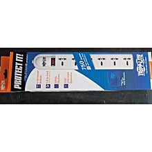 Tripplite SUPER6OMNI extension cable, 230V 6-Universal Outlet Surge Protector, British Plug, 750 Joules extension socket