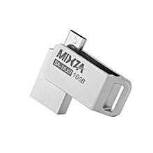 SA - MU01 16GB USB 2.0 Ultra Thin Metal OTG U Disk Flash Drive - Silver