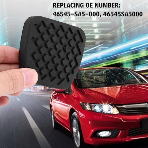 generic 1 pair of brake clutch pedal pad rubber cover for honda