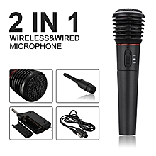 2in1 Wired&Wireless Handheld Microphone Mic Dynamic Cordless Singing Karaoke