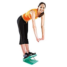 Foldable Stretching Plantar Massage Pedal Standing Body Sculpting Slimming Stretching Panels Wedge, Size: 27*30.5cm (Blue-green)