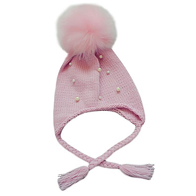 64b3c72dff1 New Kids Children Baby Girls and Boys Hair Ball Earbud Hat Crochet Winter  Warm Knit Hats  Get ...