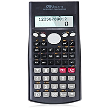1710 Scientific Calculator with Dual Line Display Function - Black