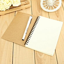 Reeves Retro Spiral Bound Coil Sketch Book Blank Notebook Kraft Sketching Paper Kraft Paper Cover White Paper Inside Page