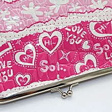 bluerdream-Women Lady Small Wallet Hasp Purse Clutch Bag Snacks Coin Purse Key Holder HOT-Hot Pink