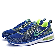 Men Light-Weight Running Sneakers - Green+Blue