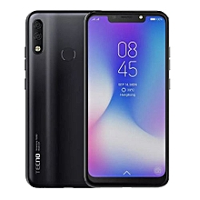 "Camon 11 pro - [64GB+6GB RAM] - 6.2"" HD+ - 24MP Al Clear Super Selfie Camera - Face ID+Fingerprint - 3750mAh - Dual SIM - Nebula Black"