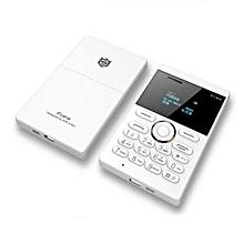 "E1 - 1.0"" 2G Mini Card Phone 320mAh Bluetooth Alarm Clock - White"