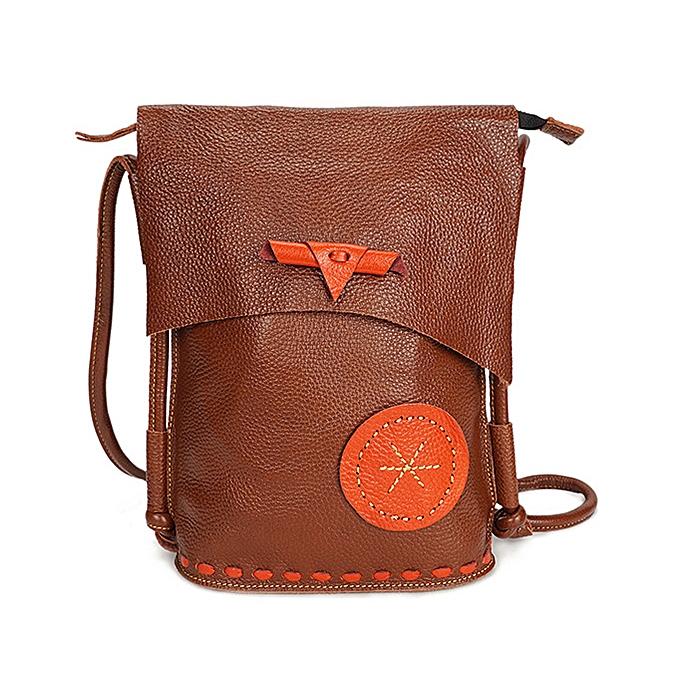 a6d0ba2e8fac Ekphero Women Genuine Leather Cowhide Casual Large Capacity Shoulder Bag  Crossbody Bag