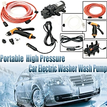 12V Portable 100W 160PSI High Pressure Car Electric Washer Auto Wash Pump Set