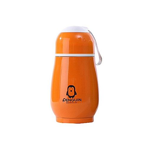 62531ab17eb Generic Penguin Shape Stainless Steel Tumbler Insulated Cup Coffee Tea Mug  Water orange
