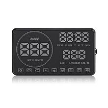 "VGEBY 5.5"" Multi-color Car HUD Head Up Display OBDII OBD Vehicle Speed Rpm Voltage Alarm System"