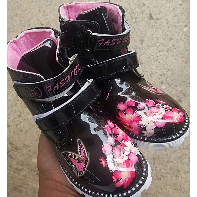 baby girl flowered boots