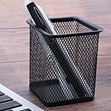 Durable Office School Height Pen And Pencil Holder Wired Mesh Design Black