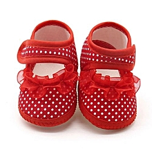 a0f74fa7bdc Newborn Infant Baby Dot Lace Girls Soft Sole Prewalker Warm Casual Flats  Shoes- Red