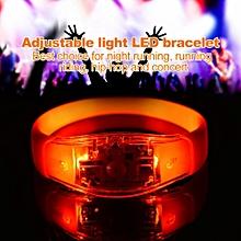 8 Colors Flash LED Light Party Concert Show Silicon Bracelet Bangle Wristband