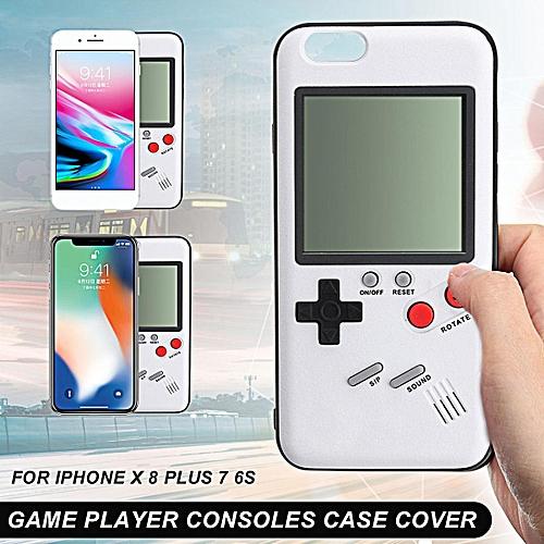 Retro Tetris Nintendo Gameboy Blokus Console Case Cover for iPhone X 8 Plus  7 6S (7/8 Plus)