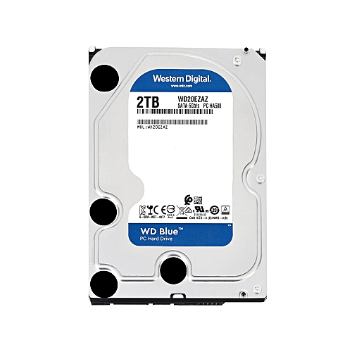 Western Digital WD Blue 2TB Desktop HDD Internal Hard Disk Drive 5400 RPM  SATA 6Gb/s 64MB Cache 3 5-inch WD20EZAZ