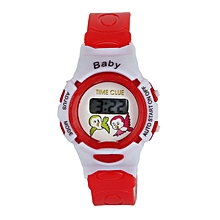 Boys Girls Students Time Electronic Digital Wrist Sport Watch Red