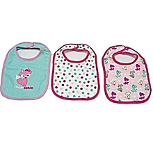 3 Pieces Washable Cotton Bibs - Little Cutie