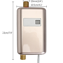 220V 3400W Mini Tankless Instant Electric Hot Water Heater Bathroom Water Shower