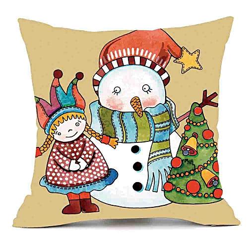 Christmas Pillows.Merry Christmas Pillows Cover Decor Pillow Case Sofa Waist Throw Cushion Cover D