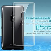 Imak 2pcs Hydrogel Film for Sony Xperia XZ2 Premium Full Cover Back Screen Protector