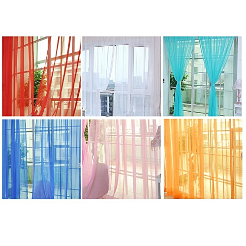 Allwin Modern Design Solid Color Curtain Panel Curtains For Home Kitchen Living Room Pea Blue Best Price Jumia Kenya