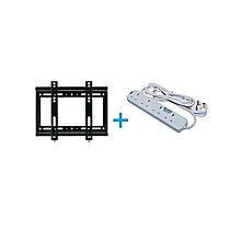 Wall Mounting Bracket for 14 - 42 TV + Free Heavy Duty Power Extension