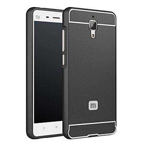 info for 74552 f1f04 Xiaomi Mi4 Case Alumium Metal Frame Pc Back Cover Luxury Bard Case For Xiao  Mi Mi 4 M4 M 4 (Color:Black)