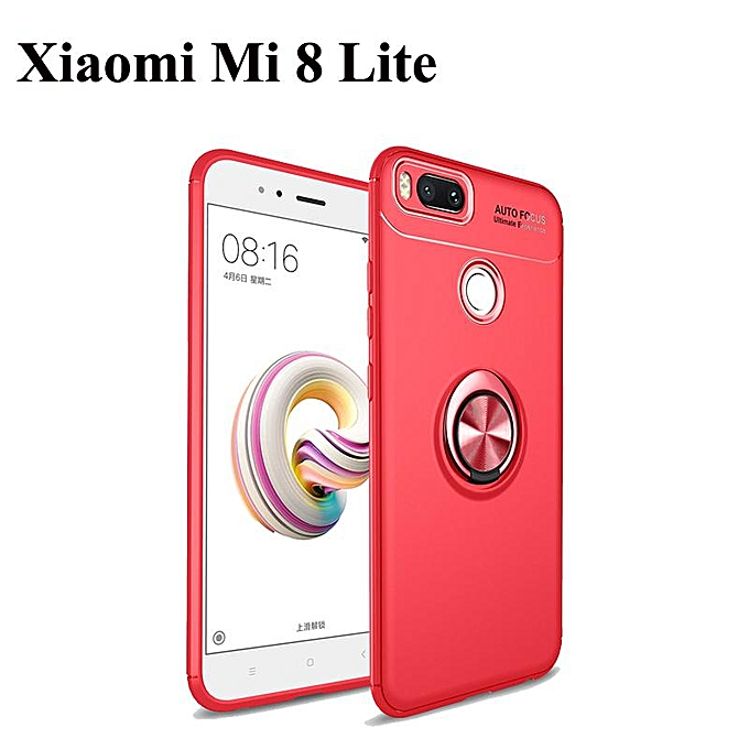 promo code 5f0de eebfd Redmi 6A Phone Case ForRedmi Note 6 Magnetic Car Holder Case 360 Rotating  Finger Ring Phone Soft Back Cover For Xiaomi Mi 8 Lite (Xiaomi Mi 8 ...
