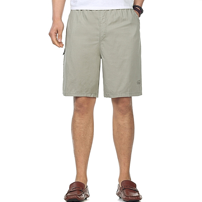 3c4e67406a Mens 100% Cotton Breathable Wash and Wear Shorts Moisture Wicking Casual Cargo  Pants