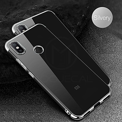 new style 0a660 e34f9 For Redmi 6 Pro Soft Case Transparent Plating Electroplate Shining Clear  Casing For Xiaomi Redmi 6 Pro Cover Housing 830898 c-1 (Color:Main Picture)