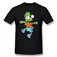 Zombie Bart Summer Basic Casual Short Cotton T-Shirt(Regular And Big And Tall Sizes Included)