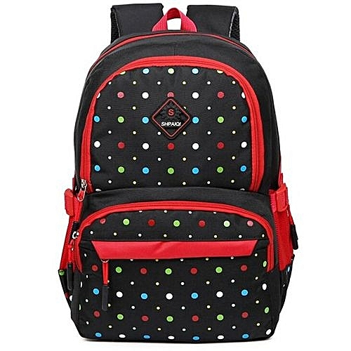 26c17bccc317 Generic Canvas Polka Dot Children School Bag Kids Backpack Mochila Infantil  Escolar Feminina For Kindergarten Baby Infants  Girls Boys(Black)