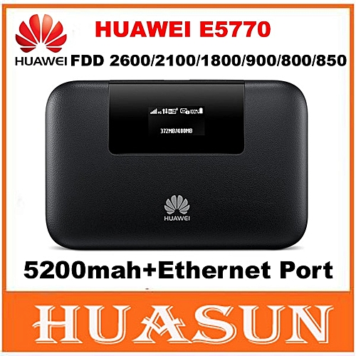 150Mbps 5200mah battery Huawei E5770 4G LTE MiFi Mobile WiFi Pro Router  with RJ45 port