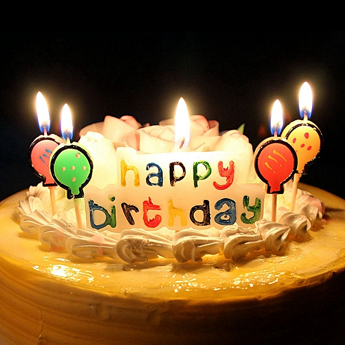 Buy Generic Happy Birthday Letters And Balloons Candles Set Birthday