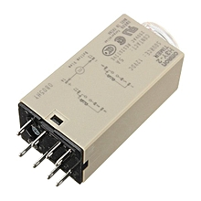 DC 12V Delay Timer Relay Power On Time 0~60 Minute Solid Delay Socket H3Y-2 Base - Intl
