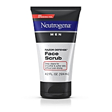 Men Razor Defense™ Face Scrub - 124ml