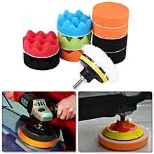 12Pcs 3 Inch Sponge Buffing Polishing Pad Kit For Car Polisher With Drill Adapter
