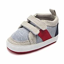 bluerdream-Newborn Toddler Baby Infants Girl Boy Soft Anti-slip Canvas Casual Shoes- Beige