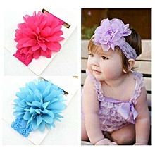 EGO 6 Pcs Baby's Headbands Girl's Chiffon Headband Hair Flower