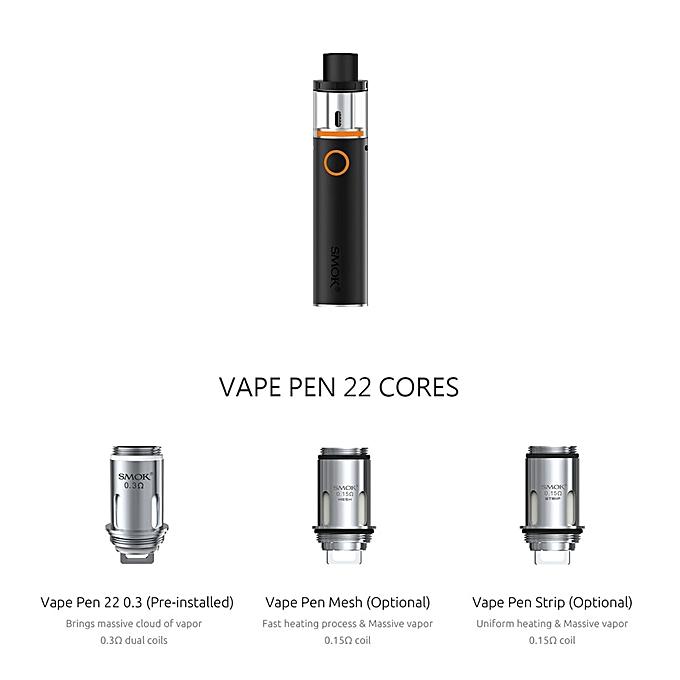 Generic SMOK Vape Pen 22 Kit Vape Pen 22 Tank 0 3ohm Dual