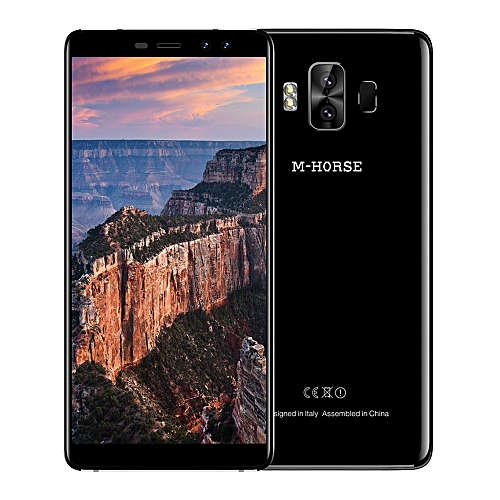 M - HORSE Pure 1 4G Phablet 5.7 inch Android 7.0 MTK6737 Quad Core 1.3GHz 3GB RAM 32GB ROM Dual Rear Cameras Fingerprint Scanner -BLACK